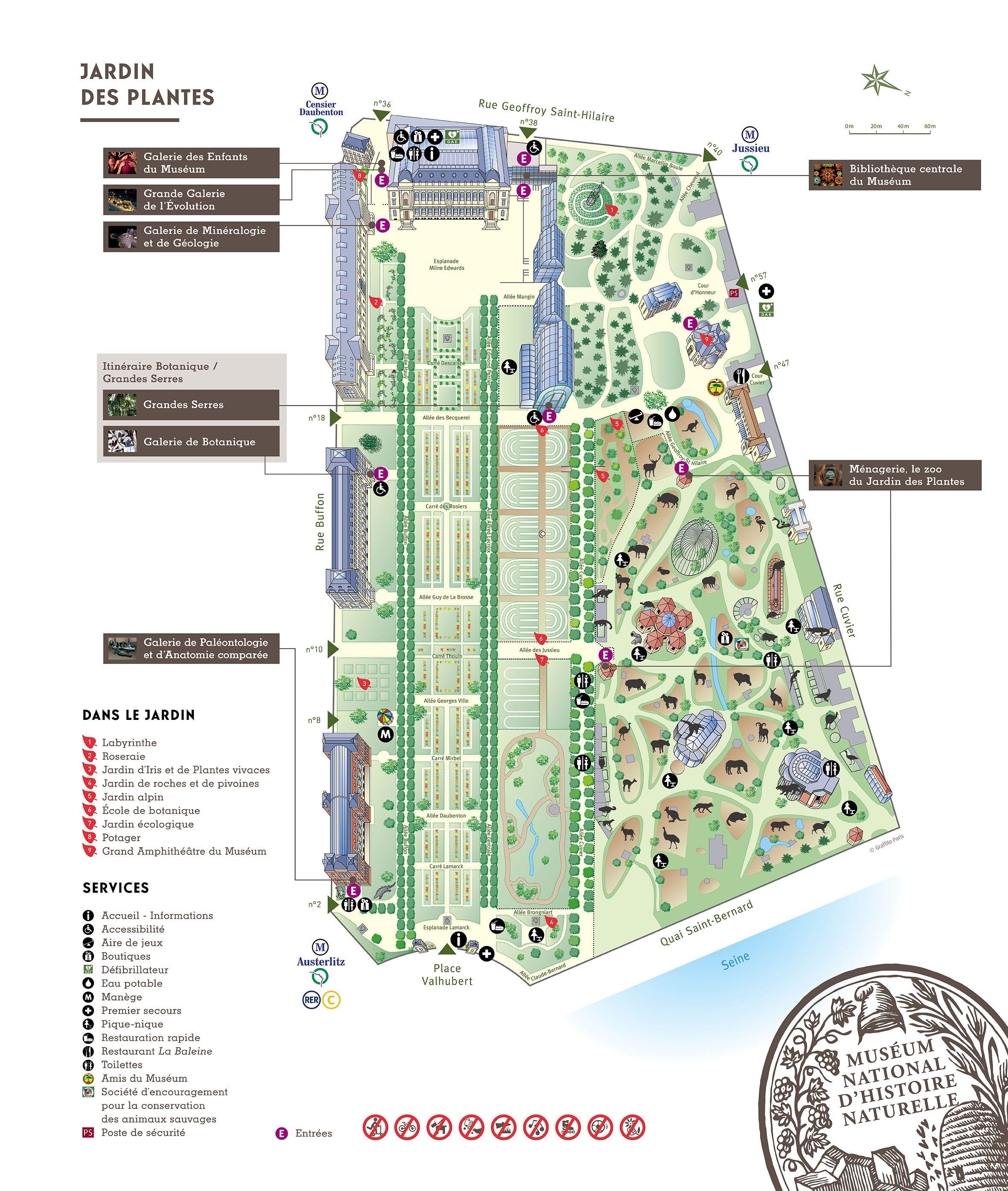 Plan du jardin des plantes bienen - Jardin des plantes angers horaires ...