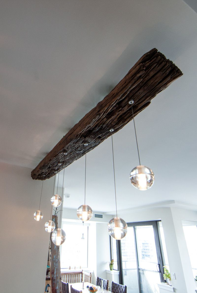 Rail Sleeper Bocci Pendant Light Zenporium Rustic Lighting