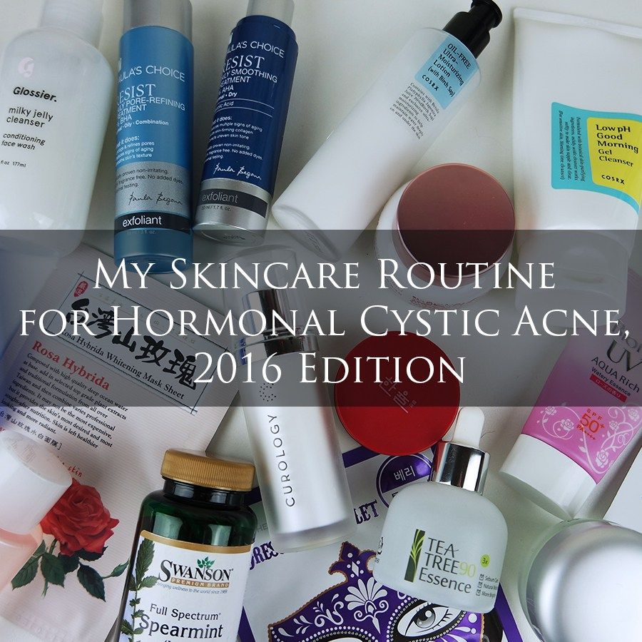 My Skincare Routine For Hormonal Cystic Acne 2016 Edition Cystic Acne Acne Treatment Hormonal Acne