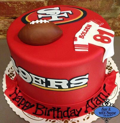 Super 49Ers Cake 49Ers Cake Funny Birthday Cards Online Overcheapnameinfo