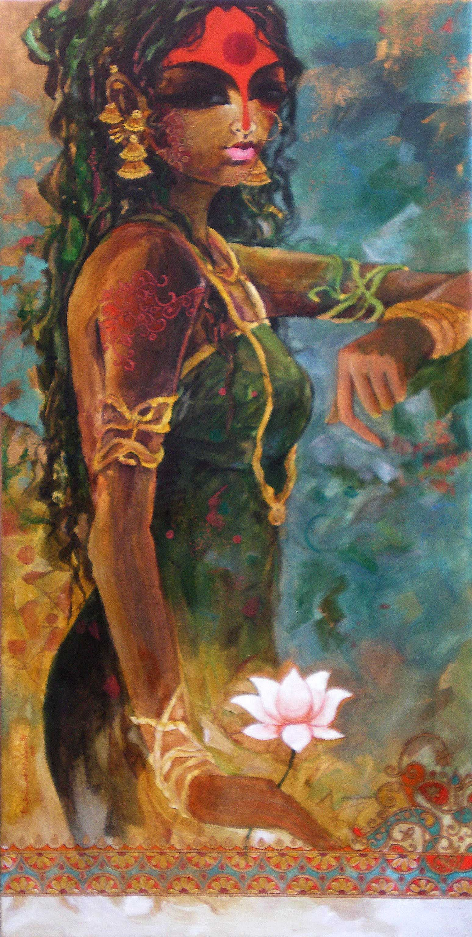 Rajeshwar Nyalapalli 'Waiting' Indian artist, Indian