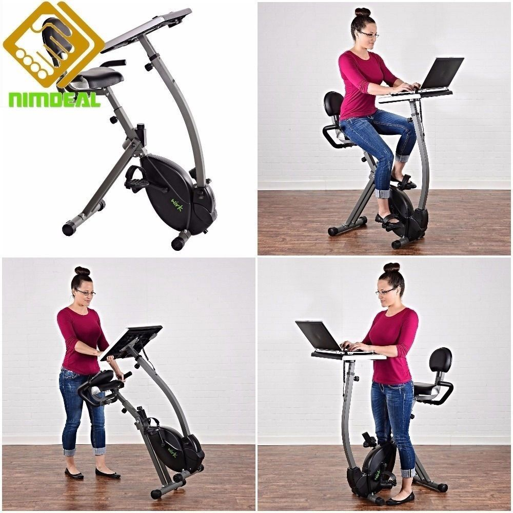 Cycling Trainer Workstation Bike Stationary Ride Gym Laptop Stand