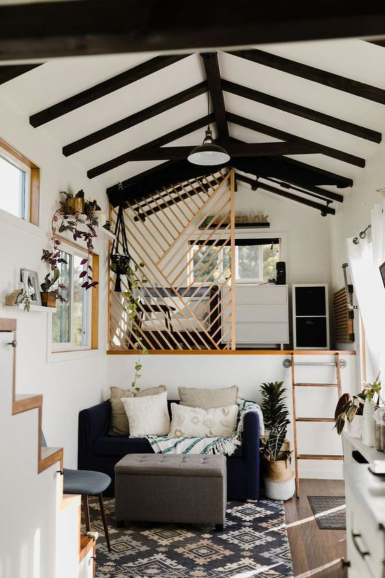 Delightful Tiny Living Rooms Which Enchant Us Tiny House Decor Tiny House Interior Design Off Grid Tiny House