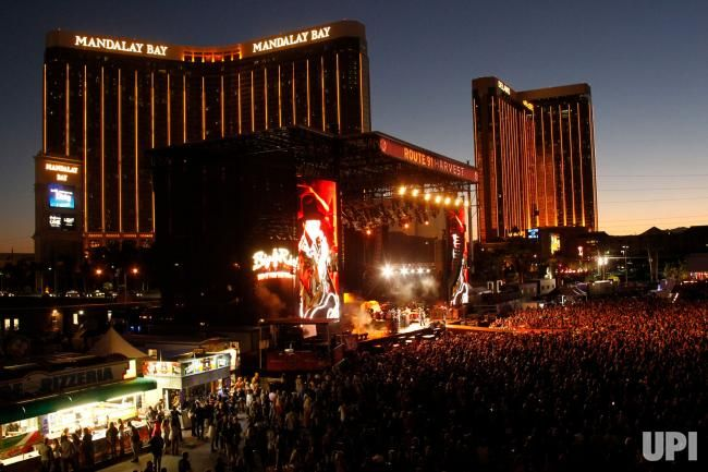 A view of the main stage at the Route 91 Harvest country music