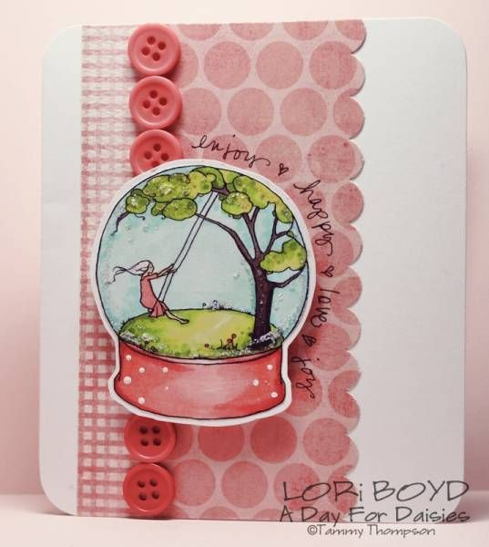 Swing in Snow Globe - LORi BOYD A Day For Daisies digital stamp