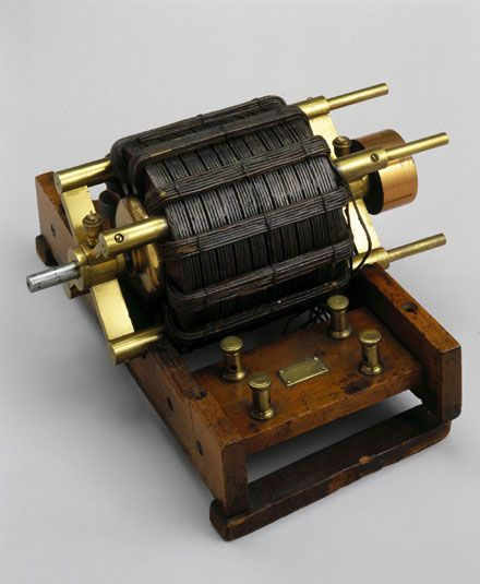 first electric generator. Induction Electric Motor - Invented By Nikola Tesla, In 1888 This Then Was The First Step Into Motorized Vehicles And Machines. Generator
