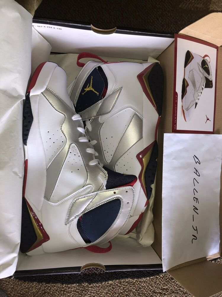 newest collection 09e6f 23143 Nike Air Jordan VII 7 Retro Olympic 2004 304775 171 Size 13 ...