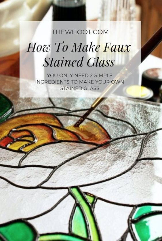 How To Make Faux Stained Glass Using 2 Ingredients The