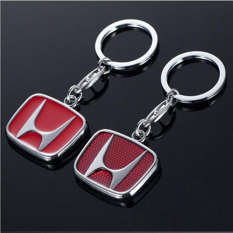 Metal Key Chain Key Ring car logo Keychain pendant Key Holder Fit For Honda