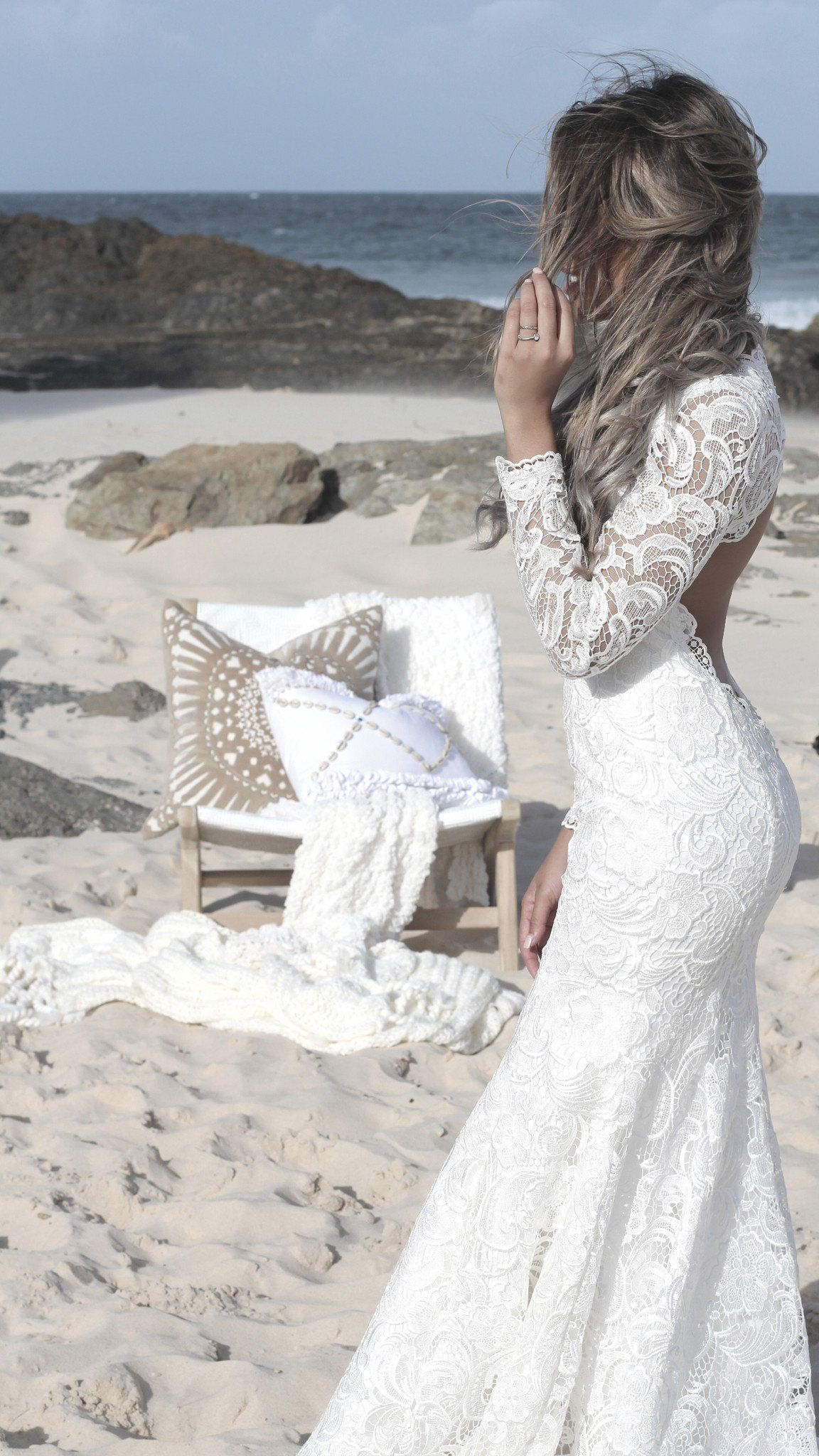 Emma low back full lace long sleeve wedding dresses the gc bridal