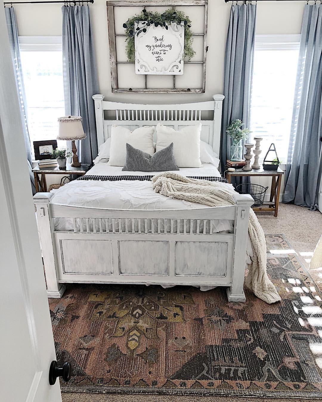 target area rug — white bedding — master bedroom decor