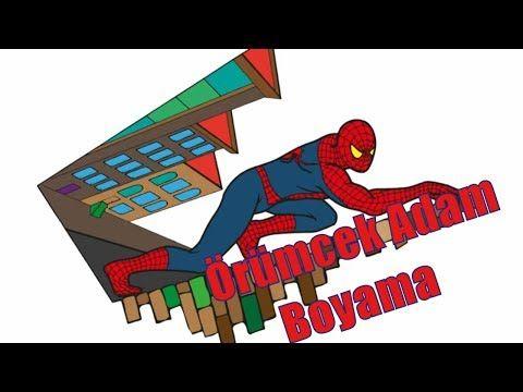 örümcek Adam Spiderman çizim Ve Boyama Sayfası Nasıl Yapılır