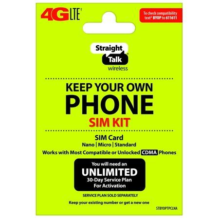Straight Talk Keep Your Own Phone Activation Kit (4G Lte