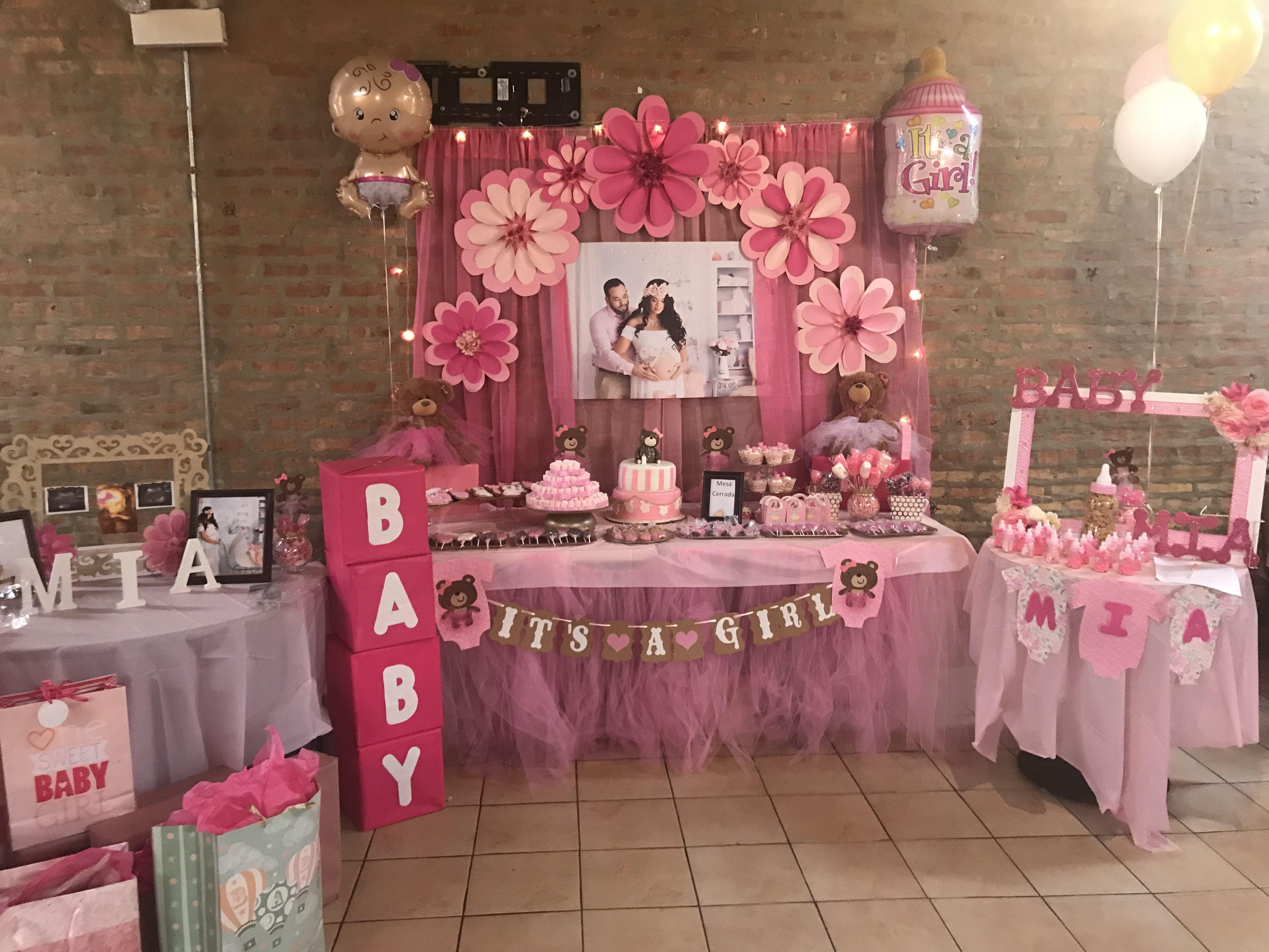Decoracion Mesa De Baby Shower Nina.Baby Shower Babyshowernina Imagenes De Baby Shower