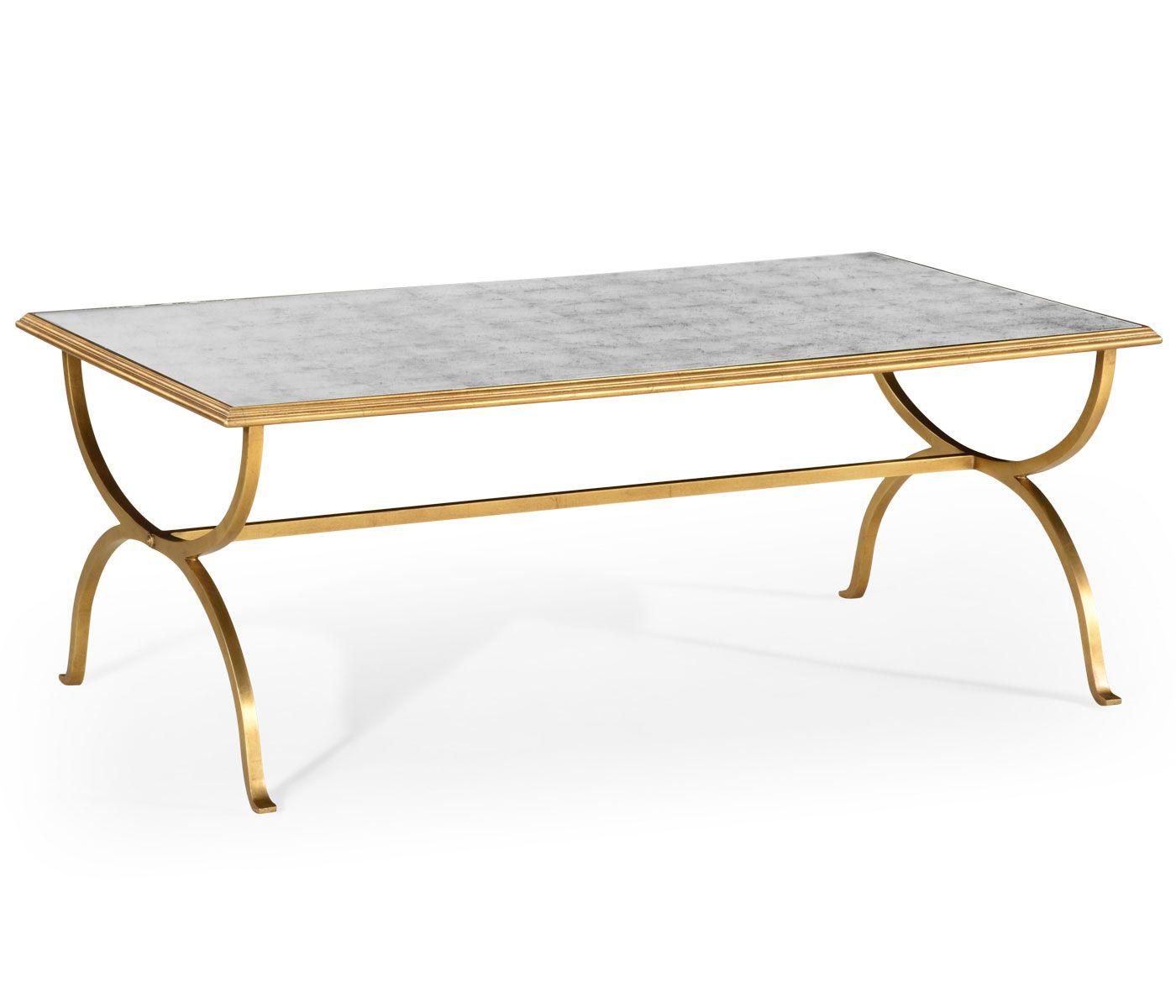 Églomisé U0026 Gilded Iron Coffee Table