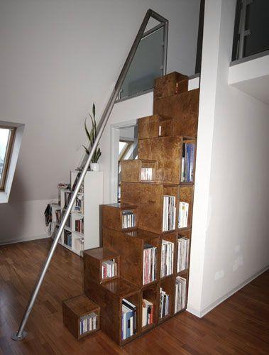 Raumspartreppe Aus Holzelementen Dachgeschoss