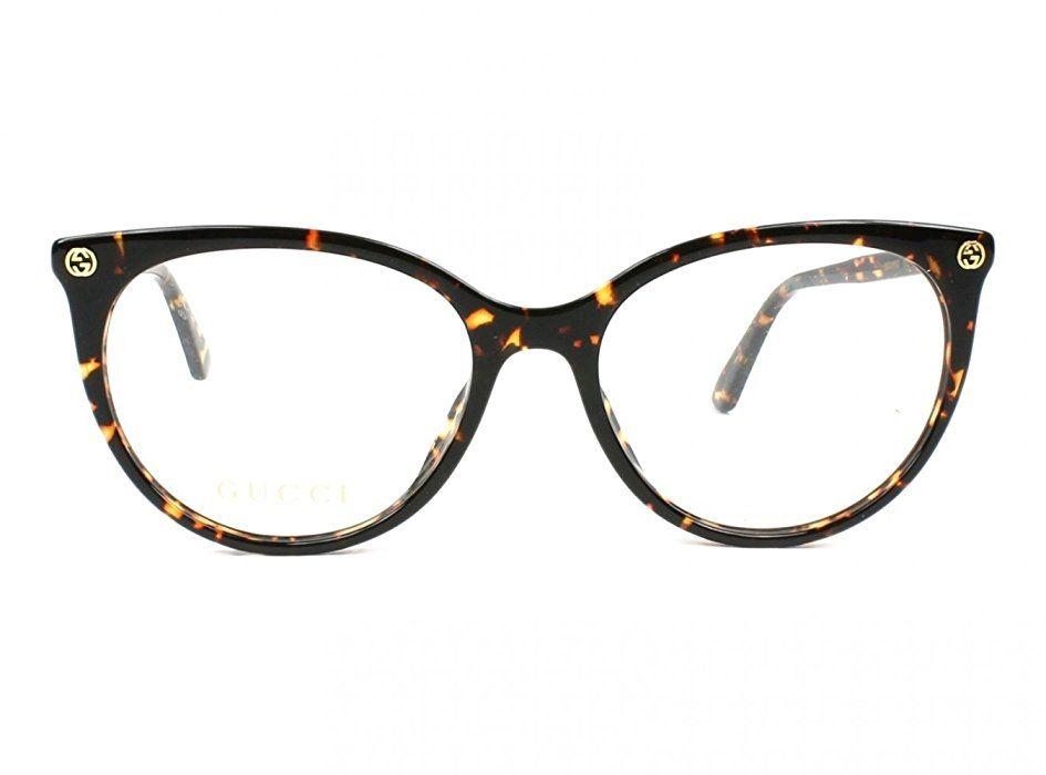 Eyeglasses Gucci GG 0093 O- 002 002 AVANA / AVANA | glasses | Pinterest