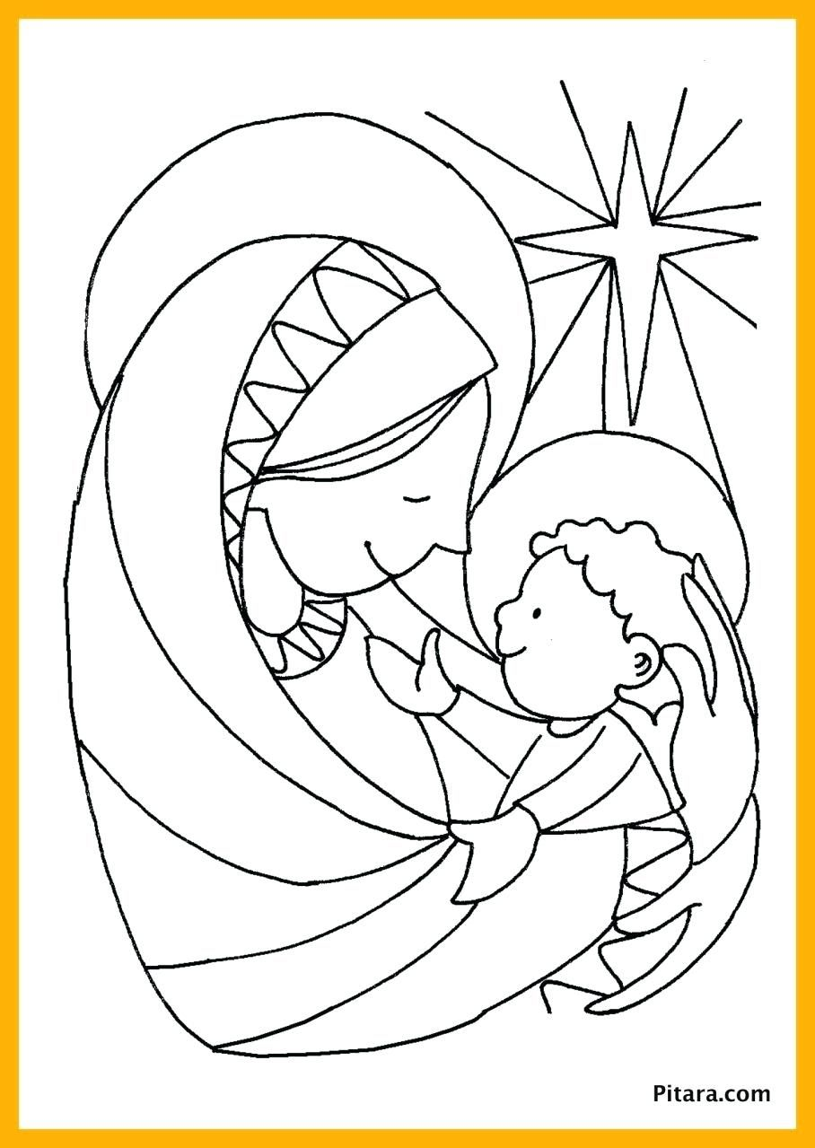Image result for nativity scene coloring page Jesus