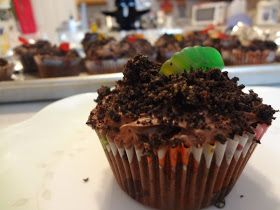 Pass the Cocoa: Chocolate Dirt Pudding Cupcakes