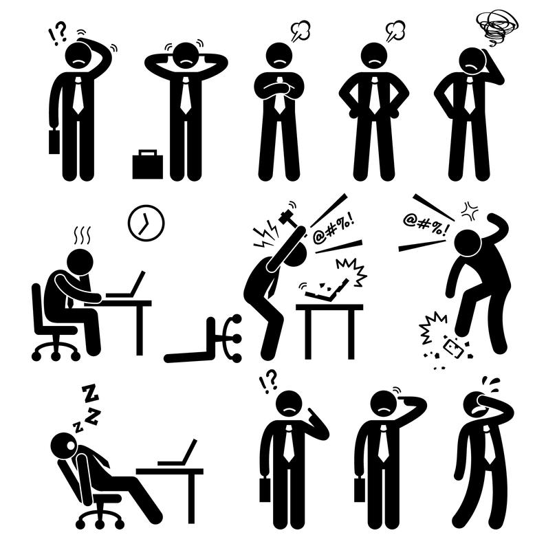 Businessman Business Stick Figure Tired Exhausted Stress Etsy In 2021 Stick Figures Stress Images Pictogram