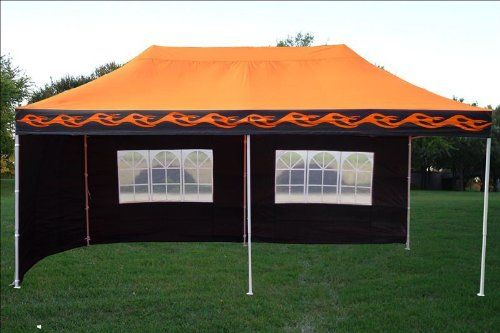 10x20 Pop Up 6 Wall Canopy Party Tent Gazebo Ez Orange Flame F Model Upgraded Frame By Delta Canopies Check Out Th Party Tent Gazebo Best Tents For Camping