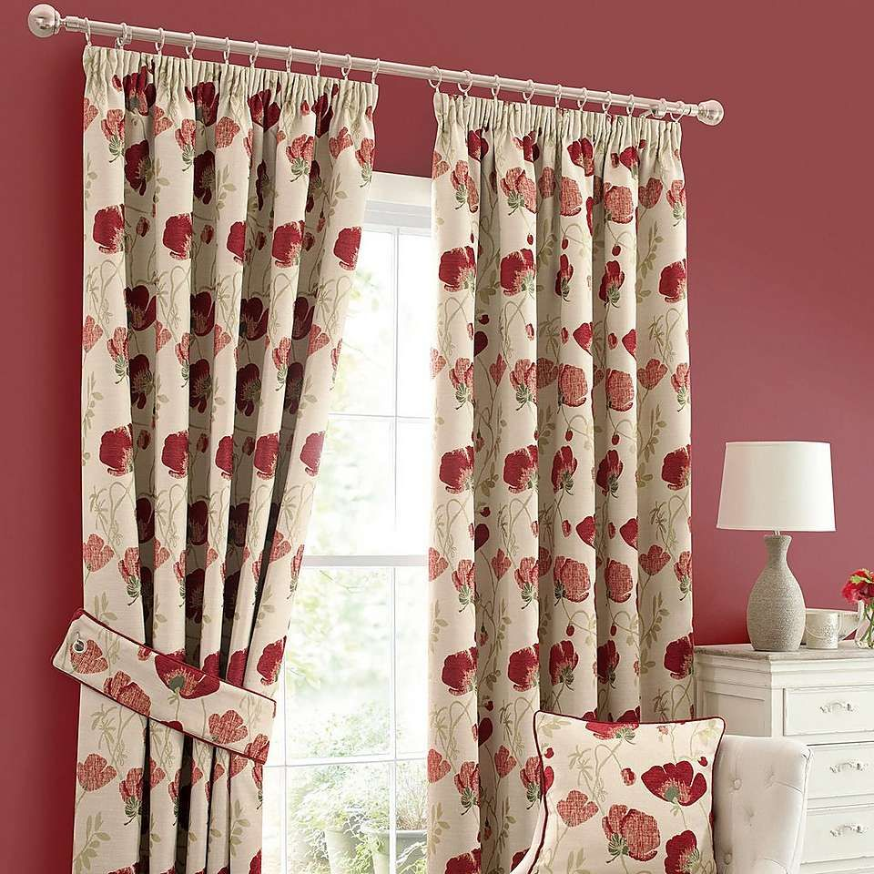 Dunelm Home: Red Poppy Chenille Curtain Collection