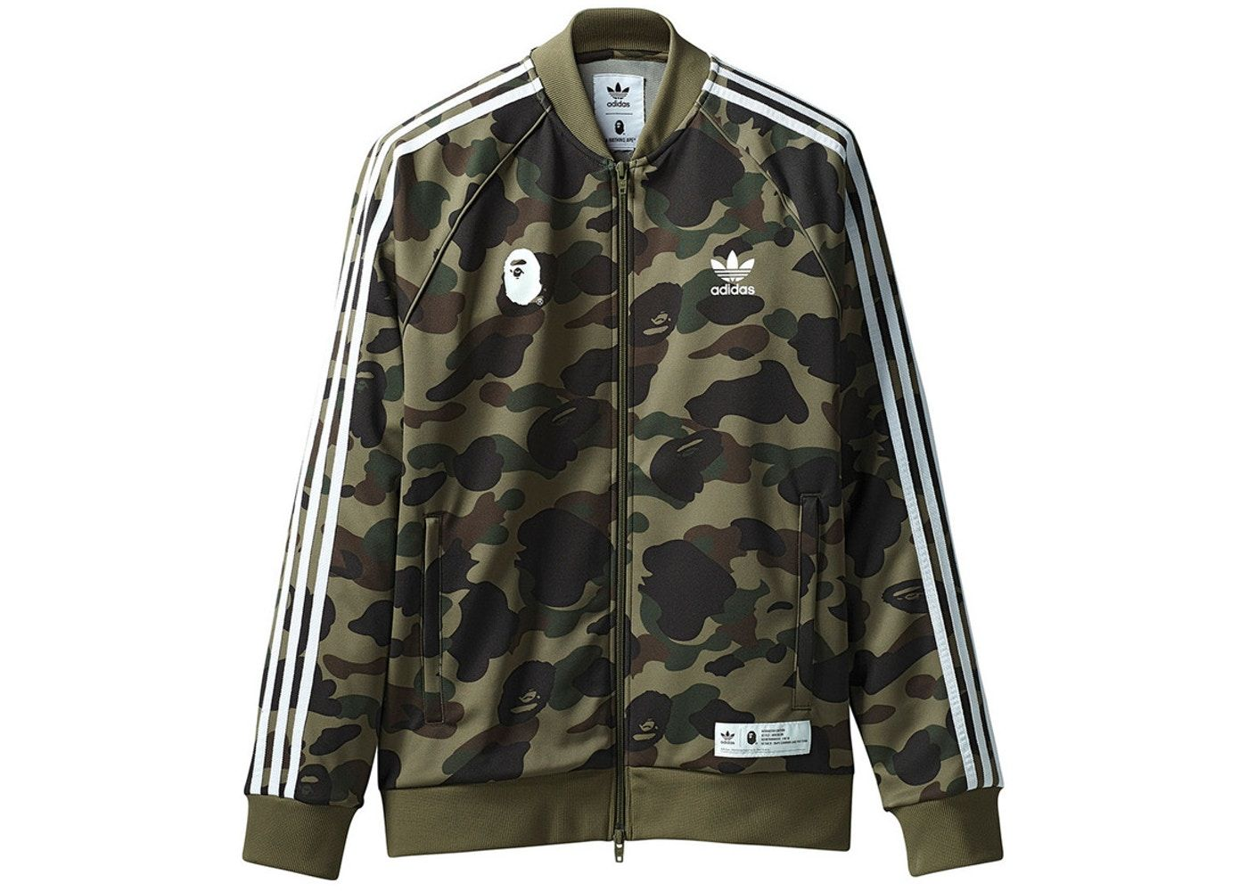 21caed05 BAPE x adidas adicolor Track Top Olive Cargo in 2019 | Clothes ...