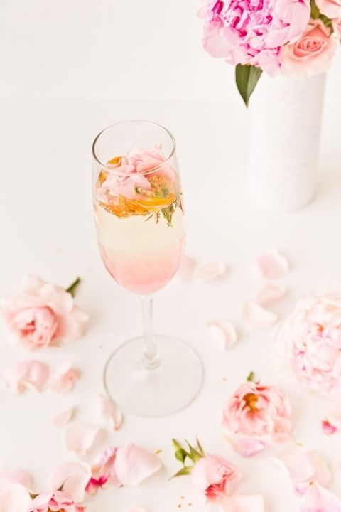 Sip on a Rosey Posey, a refreshing Prosecco drink, as an aperitif to help stimulate your appetite.