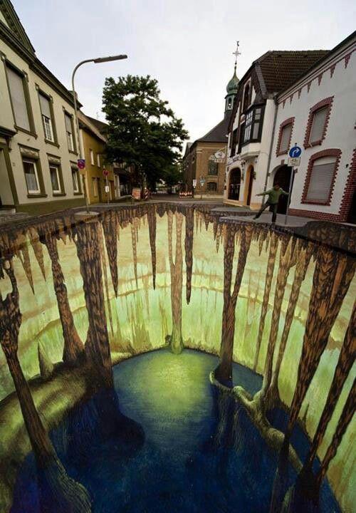 3D street art by Edgar Mueller