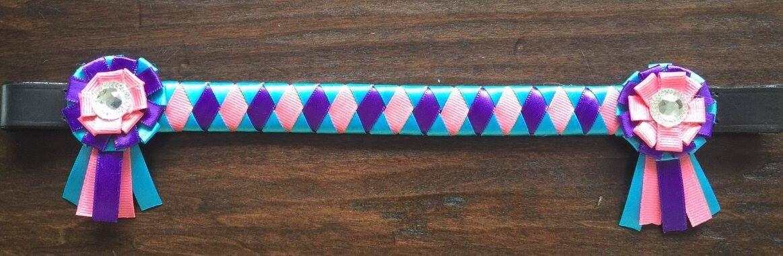 Ribbon browband by TessasBraidedBands on Etsy https://www.etsy.com/listing/270798058/ribbon-browband