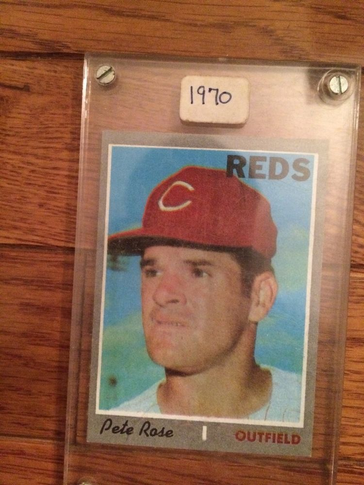 1970 topps baseball 580 pete rose cincinnati reds