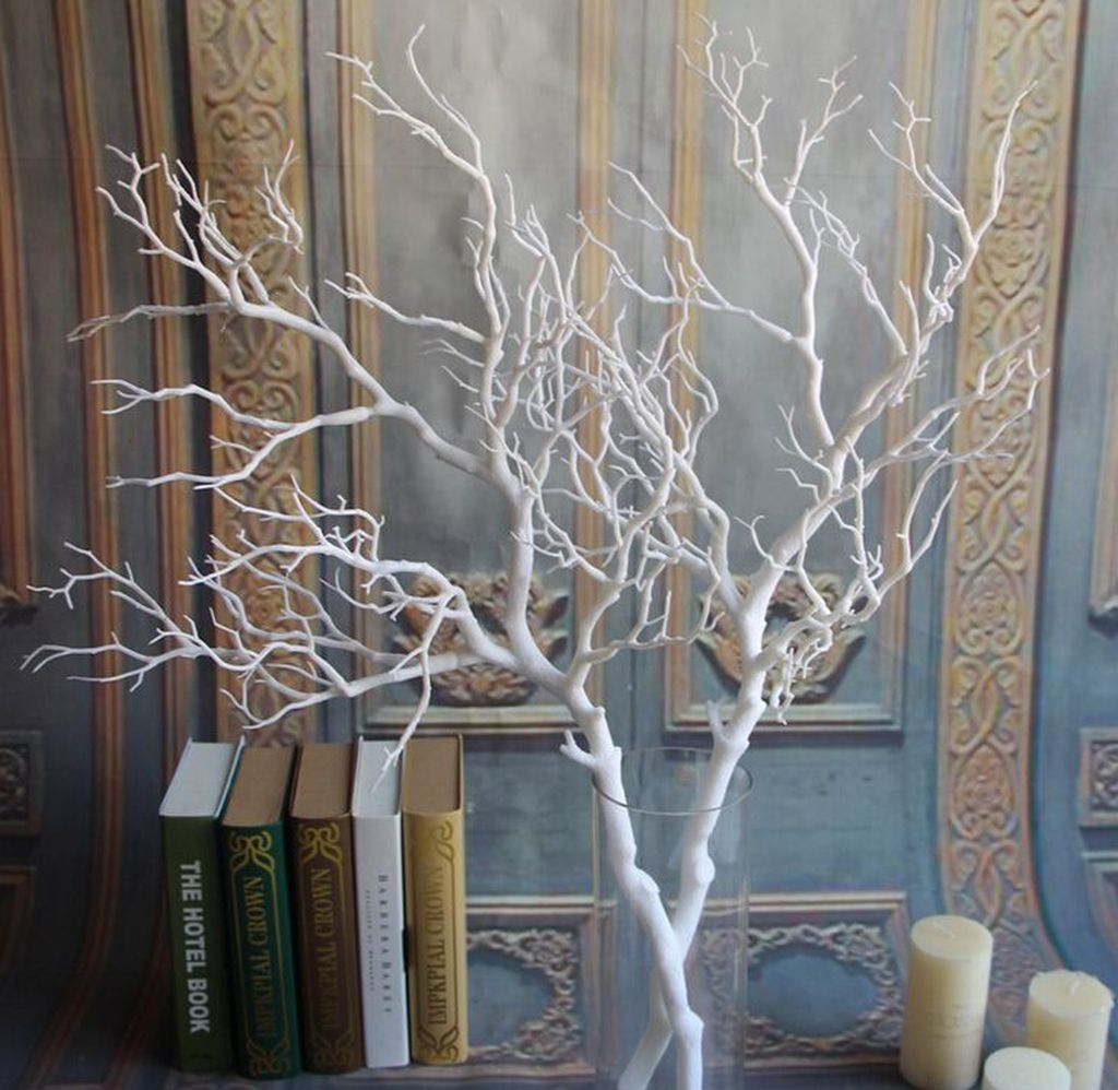 36 Unique Branches Dried Tree Decor Ideas Can Inpsire You In 2020 Dry Tree White Tree Branches Tree Branch Decor