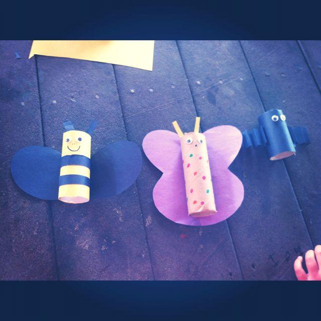 Crafts With Paper Towel Rolls For Preschoolers: Toilet Paper/paper Towel Rolls Crafts! Bumble Bee