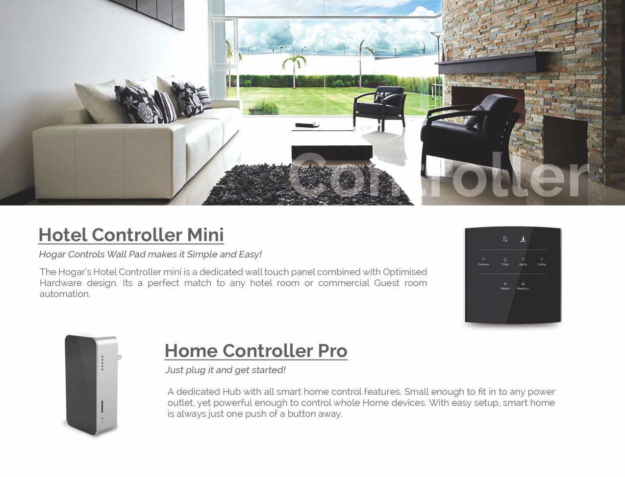 Hogar controls smart home mini controller or home controller pro many options to choose from