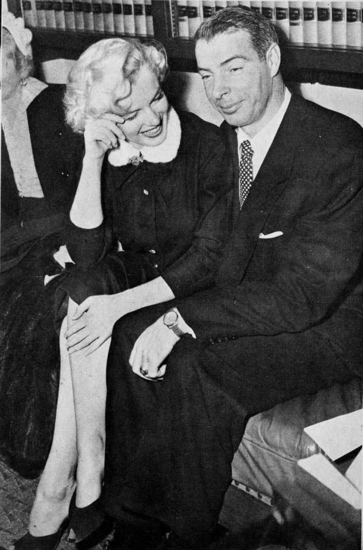 January 14th 1954 Marilyn Monroe and Joe DiMaggio at San Francisco