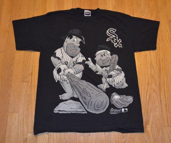 save off 2c878 1b99f Vintage 90s T-Shirt Flintstones Chicago White Sox by ...
