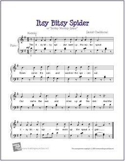 Itsy Bitsy Spider | Teaching: piano in 2019 | Easy piano