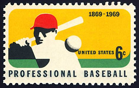 The 1969 Professional Baseball Commemorative Postage Stamp