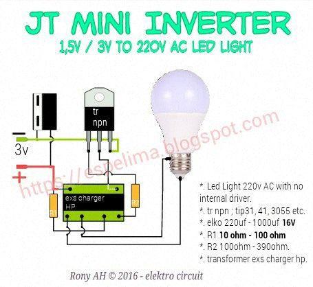 Membuat Mini Inverter 3 7v 12v Dengan Trafo Bekas Suply Dvd Mungkin Sebagian Para Master Jt Atau Joule Thief Sudah Handal Dala Dvd Rangkaian Elektronik Usb