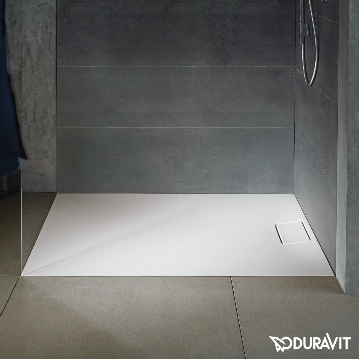 Duravit rectangular shower tray white