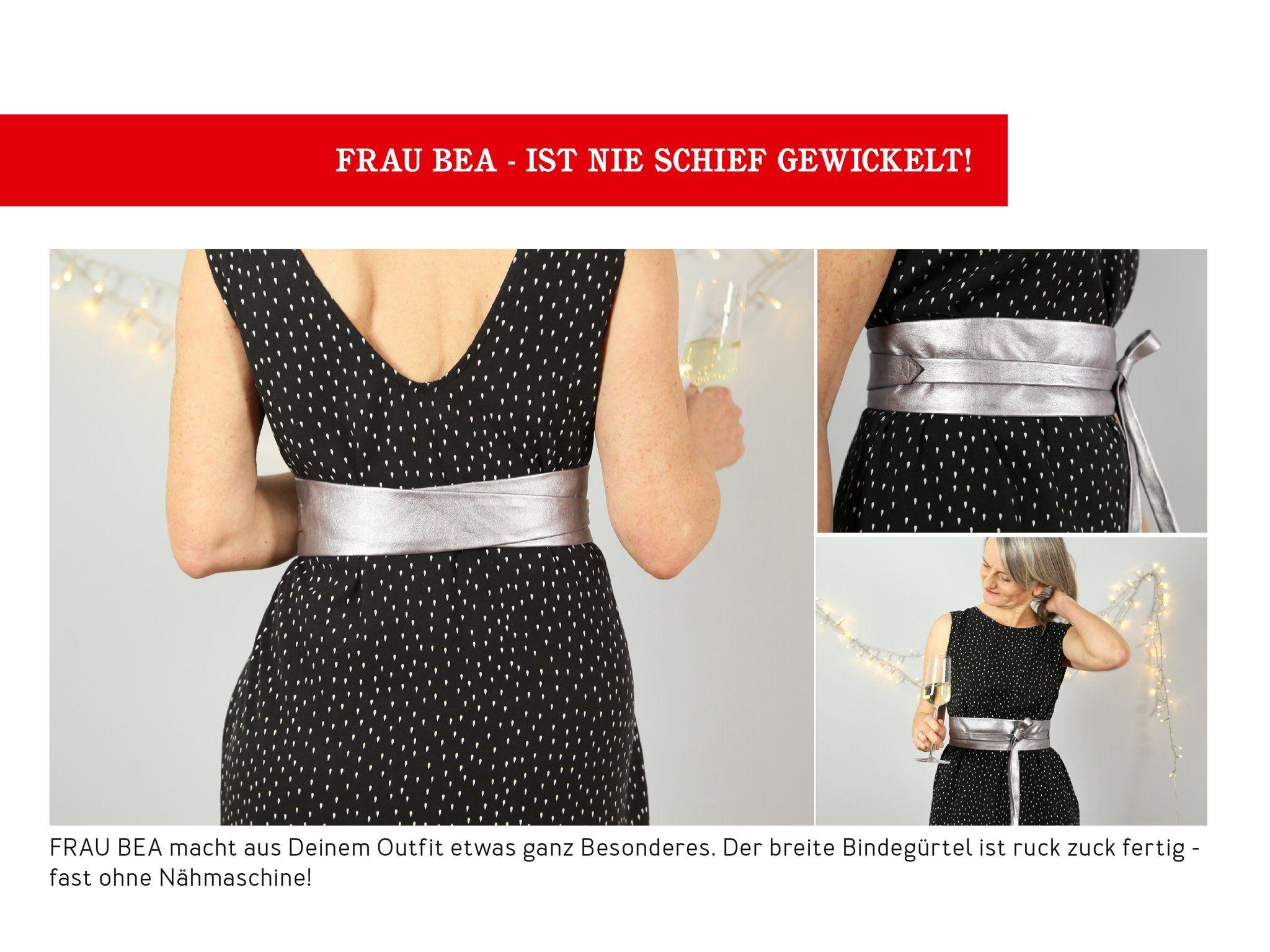 Frau Bea Eleganter Bindegurtel Studio Schnittreif Kleidung Modestil Hoher Taillenrock