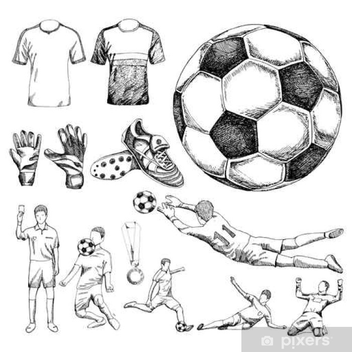 Wall Mural Design elements of soccer