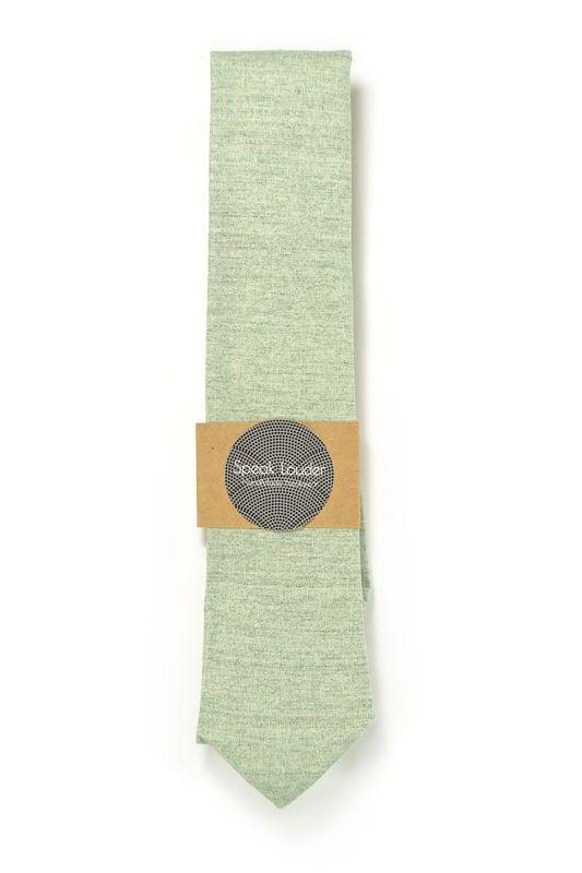 green men tie, pink quarz cotton chambray laid back necktie