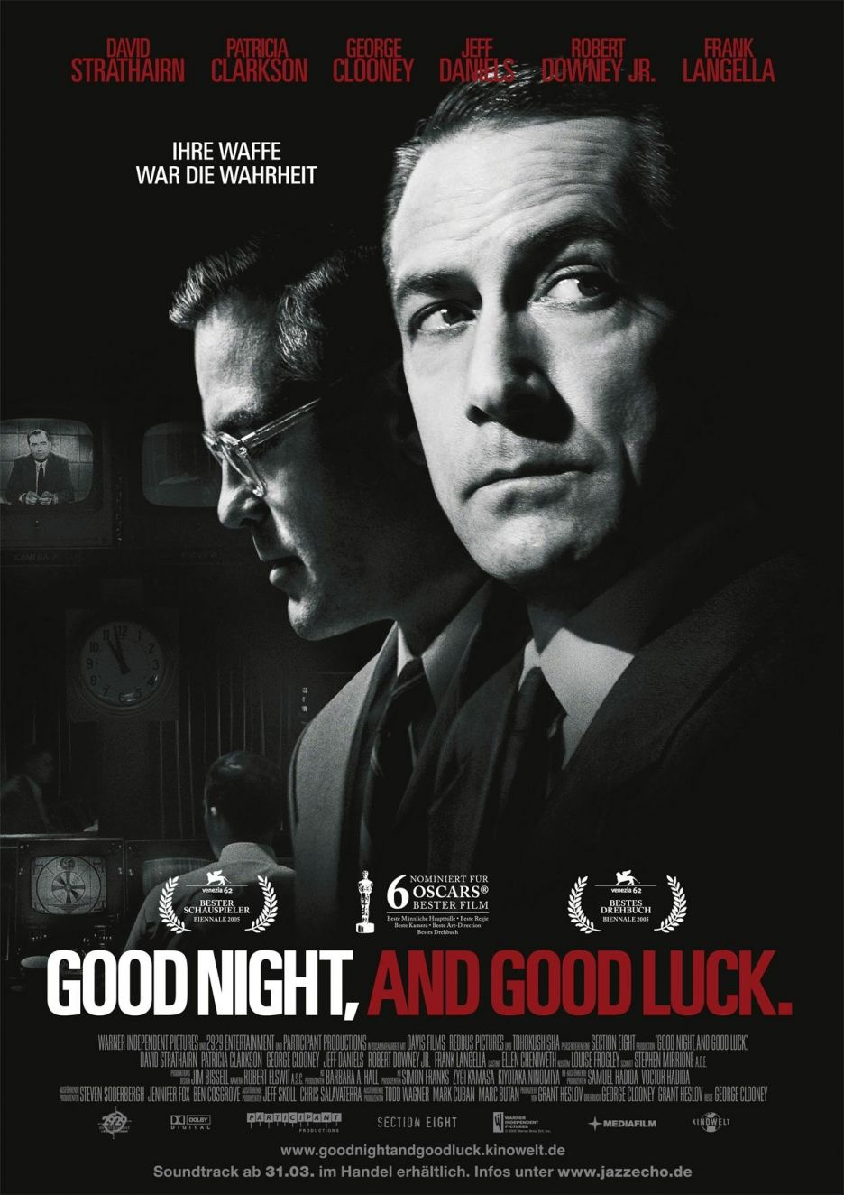 Good Night And Good Luck Georges Clooney Film Films Cultes Affiche Film