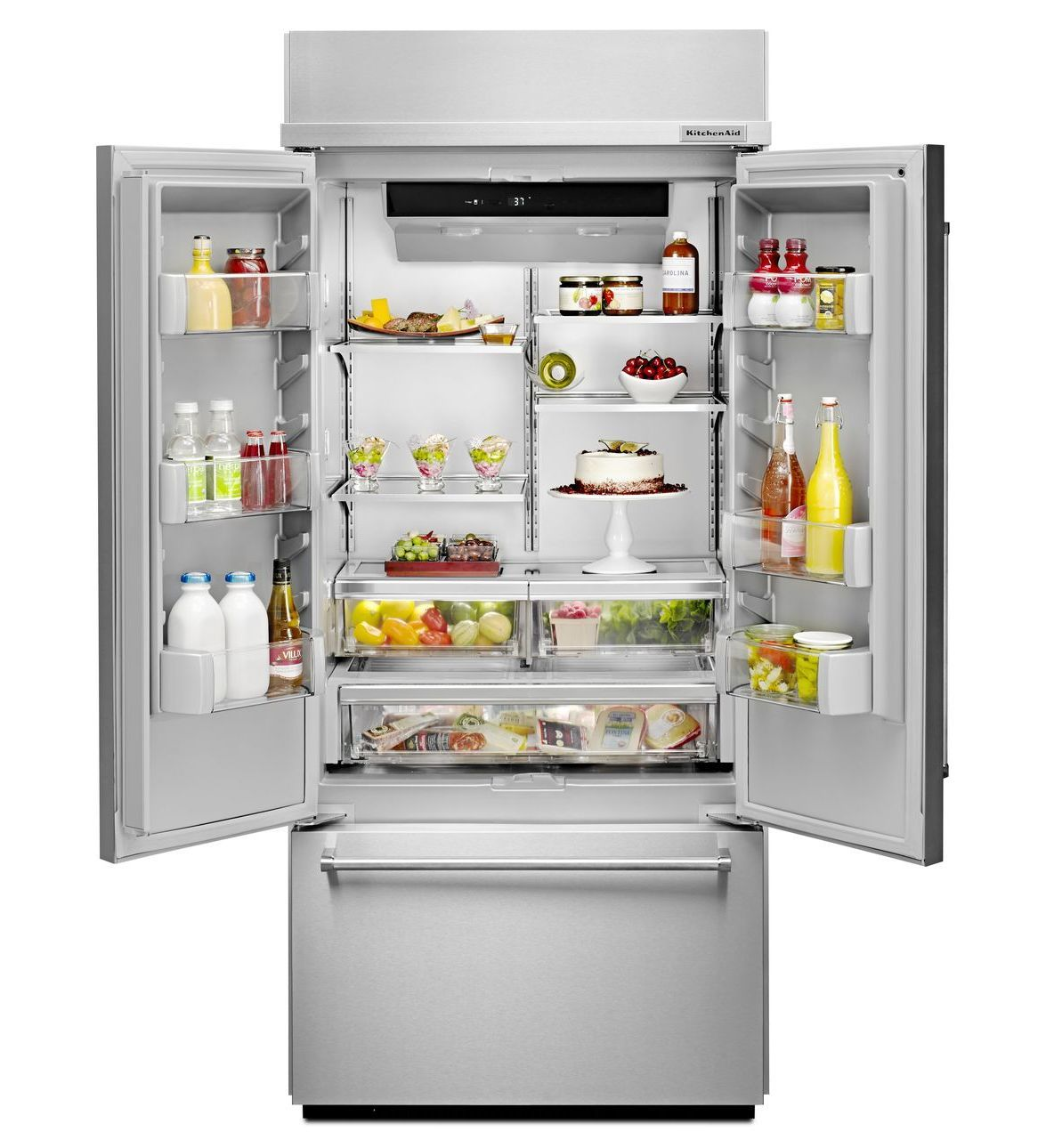 Buy New KitchenAid Built In Refrigerator + Single Wall Oven At Online Store