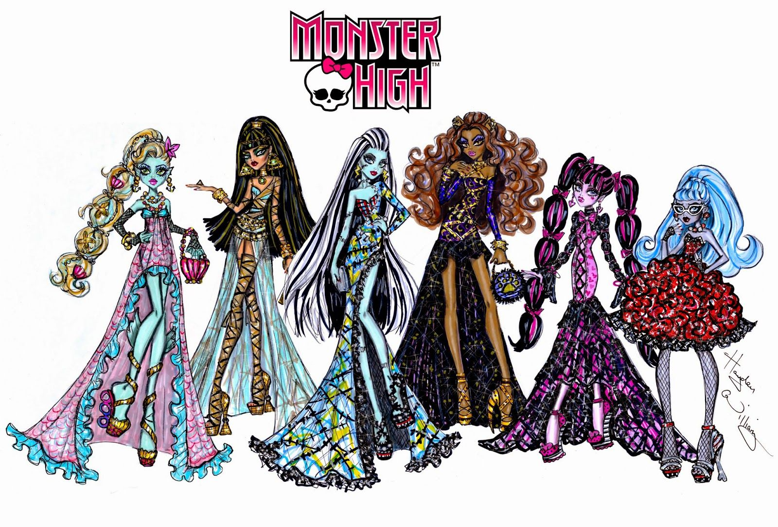 Teppich Monster High Monster High By Hayden Williams Fashion Illustrations