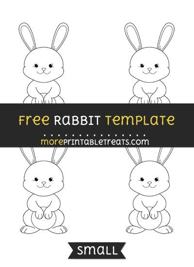 Free Rabbit Template - Small | Easter bunny template ...