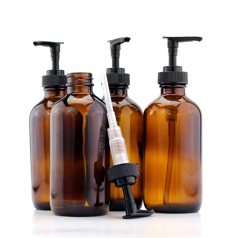 Amazon Com Cornucopia Brands 8 Ounce Amber Glass Pump Bottles 4