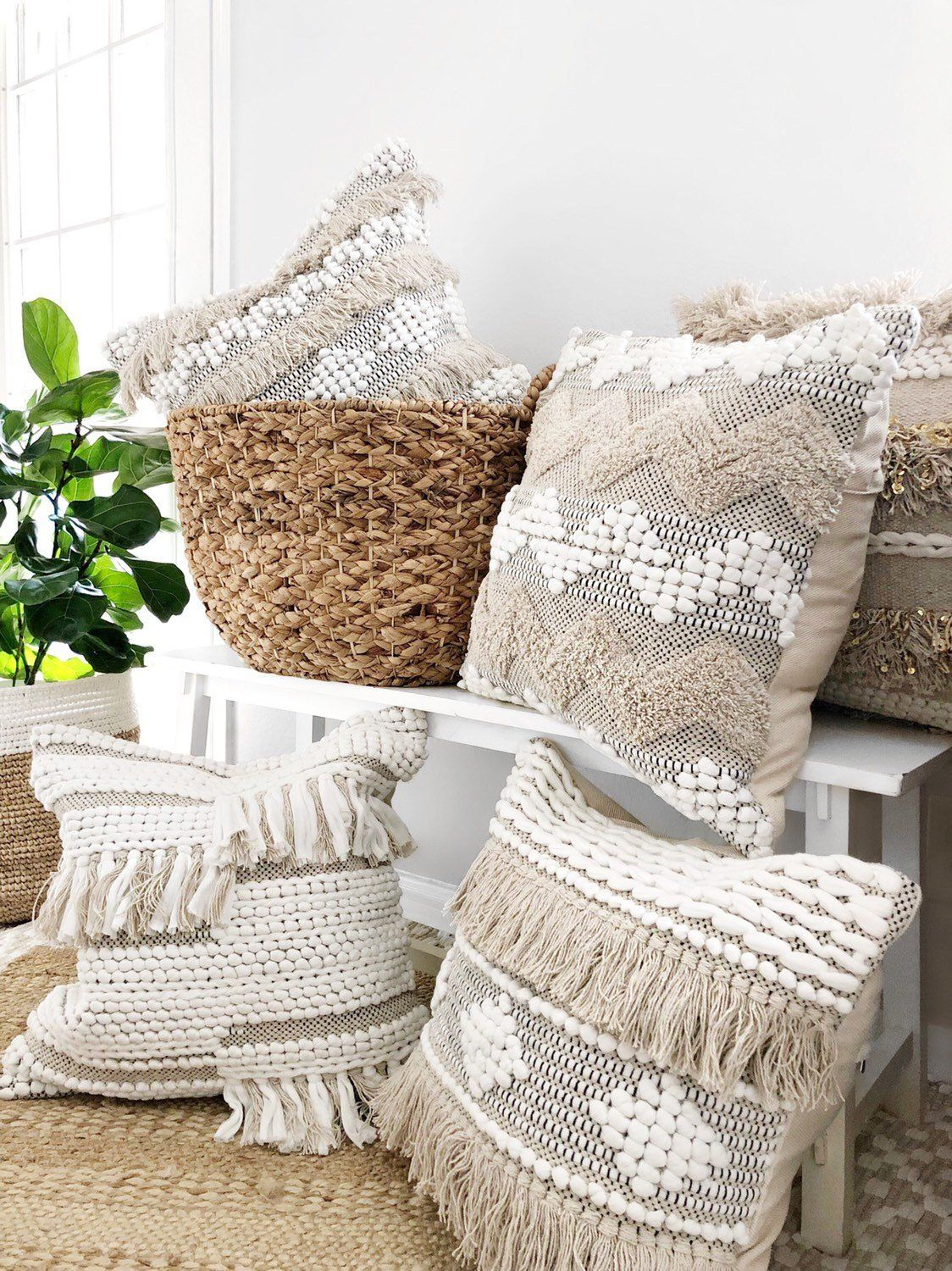 Pin by witka on bedroom boho throw pillows fringe