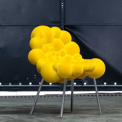 Chair Mutation By Belgian Designer Maarten De Ceulaer. Each Piece In The Mutation  Series Is Made From Foam Spheres, Cut So They Fit Together, Attached To A  ...
